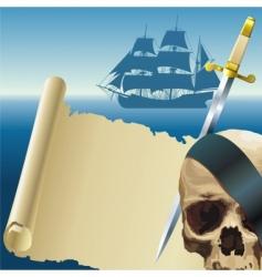 pirates parchment vector image