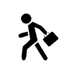 Pixel symbol businessman vector