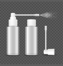 realistic detailed 3d blank bottle spray template vector image