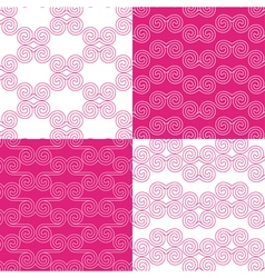 set of ethnic Greek geometric patterns vector image
