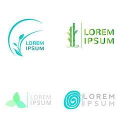 Set of spa logos vector