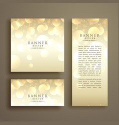 Shiny bokeh card design template vector