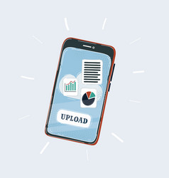 smartphone app on mobile vector image