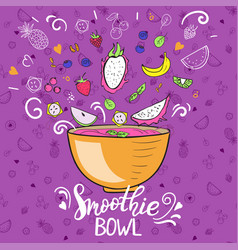 Smoothie bowl concept healthy eating vector