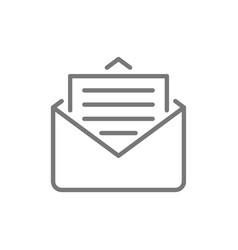 sms message email line icon vector image