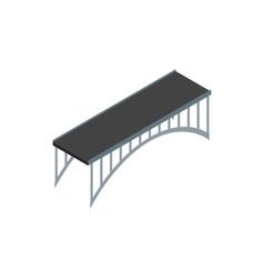 Span bridge icon isometric 3d style vector image