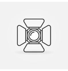 Spotlight icon or logo vector image