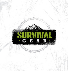 Survival gear extreme outdoor adventure creative vector