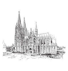 The cologne cathedral edifice was begun in the vector