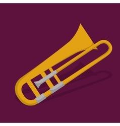 Trumpet icon Music instrument graphic vector