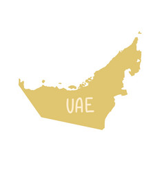 united arab emirates map in flat hand drawing vector image