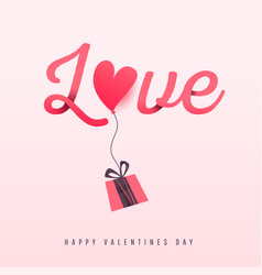 valentines day love background poster template vector image