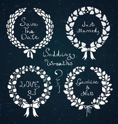Wedding wreaths vector