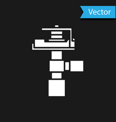 White automatic irrigation sprinklers icon vector