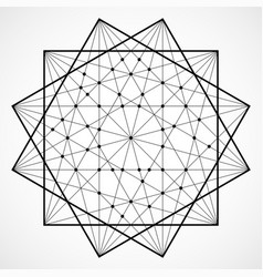 wireframe polygonal element geometric vector image