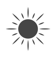 Black design element sun icon vector image