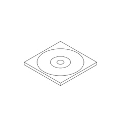Blank compact disc in a case icon vector image vector image