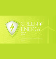 modern poster on the topic of natural energy vector image vector image