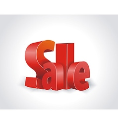 3d red text SALE vector image vector image