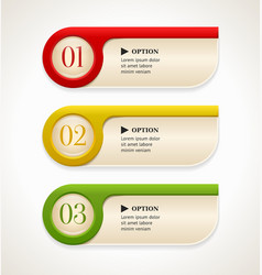 Colorful options banners or buttons vector image vector image