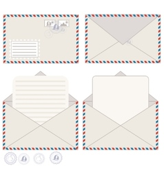 Mail Envelope And Postcard vector image vector image
