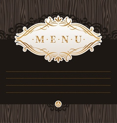 menu with calligraphic frame vector image