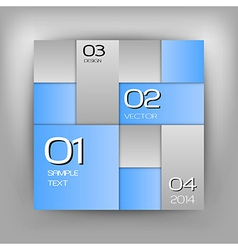 business squares blue with text vector image vector image