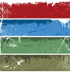 grunge panels vector image vector image