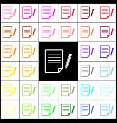 paper and pencil sign felt-pen 33 vector image vector image