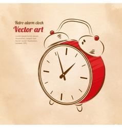 Vintage alarm clock vector image