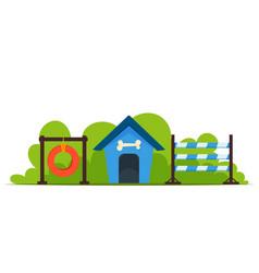dog house training vector image
