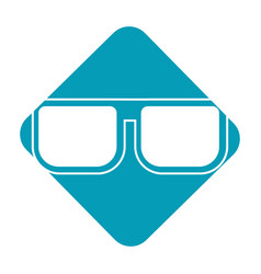 label nice glasses accessory to can see vector image