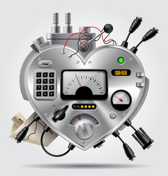 sophisticated electronic device in the form of vector image vector image