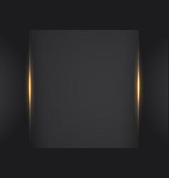abstract metallic orange black frame layout vector image