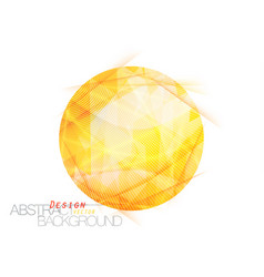 Abstract translucent yellow colors vector