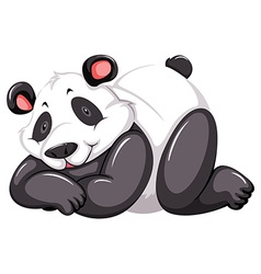 Adorable panda vector image