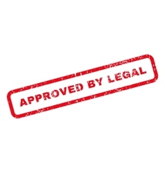 Approved By Legal Text Rubber Stamp vector