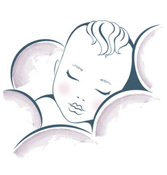 baby dream sweet sleeping child design vector image
