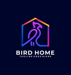 bird home color design template vector image