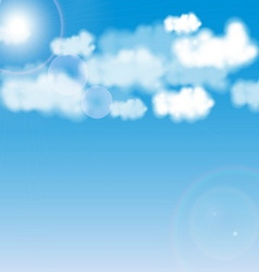 Blue sky with white cloud vector image