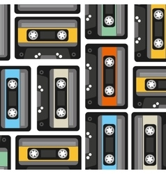 Cassette pattern background icon vector