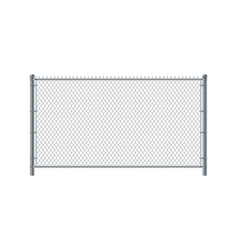chain link fence panel metal wire fence vector image