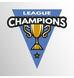 champions league logo vector image