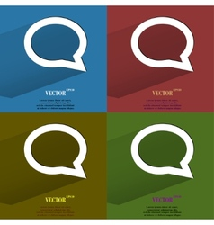Color set cloud thoughts Flat modern web button vector image