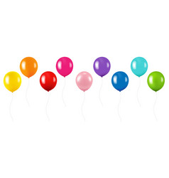 Colorful balloon collection isolated white vector