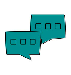 Conversation bubbles mobile messaging icon image vector