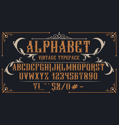 decorative vintage alphabet vector image