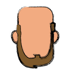Default face head man male character image vector
