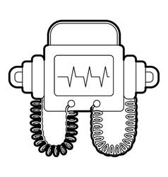 Defibrillator icon outline style vector