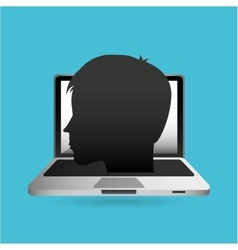 Eduation online concept school background vector
